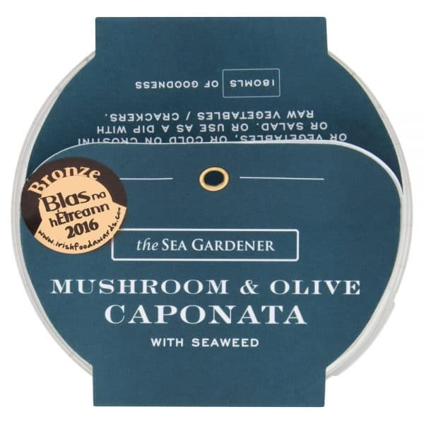 Mushroom and Olive Caponata with Seaweed